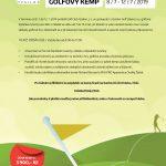 Dětský golfový kemp 2019!
