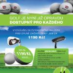 Vyzkoušejte balíček JDU NA GOLF pro začínající golfisty.